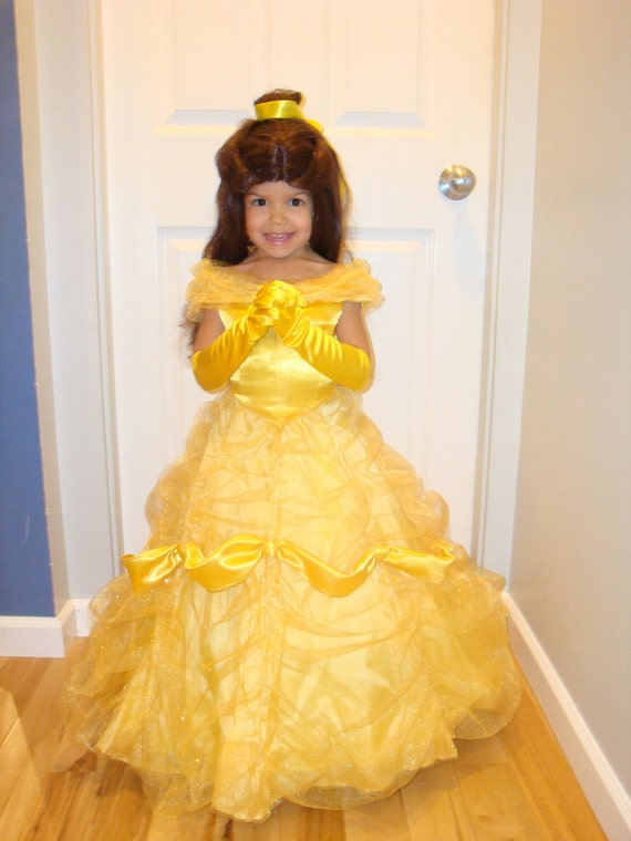 Child Deluxe Belle From Beauty And The Beast Costume Gloves