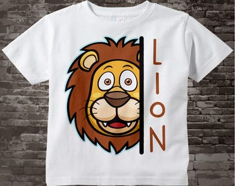 Lion t-shirt or Onesie Bodysuit for children, cotton tee shirt or Onesie Bodysuit with Lion head. Great Leo gift for child 10062017a