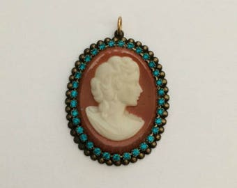 Cabochon Setting, Gold Plate, Cameo Setting, Gold Stampings, 25x18 mm