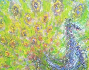 Original painting ' Pride '. P. impressionistic, rich colors.