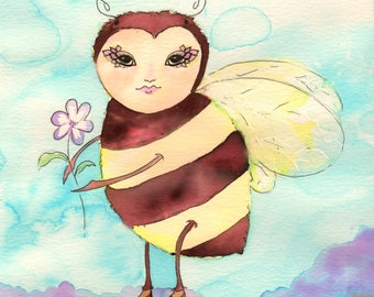 Sassy Bee 5x7 card