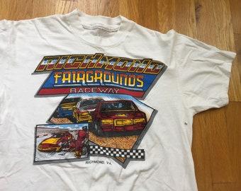 Vintage 80s Richmond Fairgrounds Raceway shirt vintage richmond virginia nascar shirt richmond va rva 804 richmond raceway richmond nascar