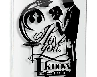 I Love You I Know Star Wars Art Han Solo Princess Leia Papercut Star Wars Gift Anniversary Gift Wedding Gift Han Leia Love FRAMED