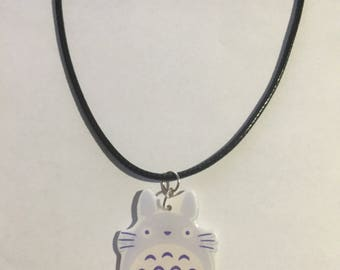 totoro charm necklace