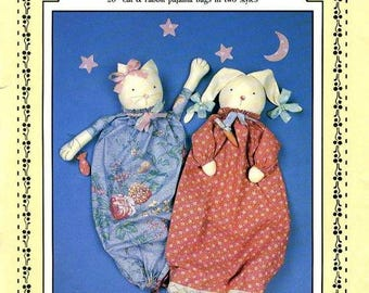 PJ Bags Prairie Farm Designs CAT and RABBIT Pajama Bags