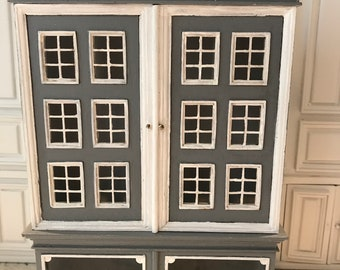 Hand Painted grey and white BABY-HOUSE