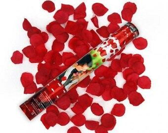Cannon confetti 40 cm cheap red rose petals