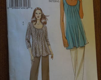 Vogue V8656, sizes 8-14, tunic and pants, UNCUT sewing pattern, craft supplies