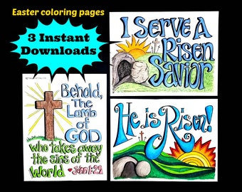 EASTER set of THREE  8.5x11 instant downloads