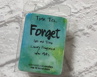 Time To ... Forget, Luxury, Wax Melts, Wax Tarts, Handmade, Gin and Tonic, Scented Wax Melts, Gin, Wax Cubes, Gift for Her, Birthday Gift