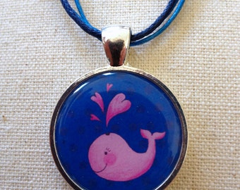 Pink Whale Necklace