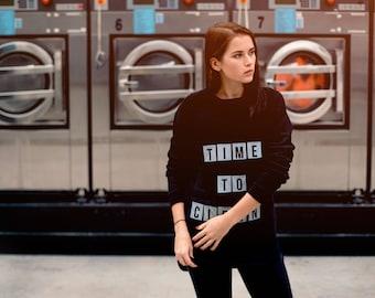 sweatshirt with changable letters