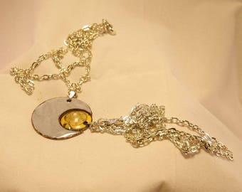 you and me original enamel on copper pendants