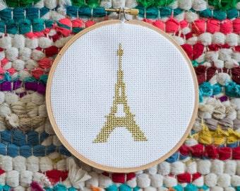 Eiffel Tower cross stitch pattern