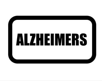 Medical Patch - ALZHEIMERS - Embroidered