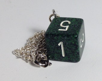 Green D6 necklace