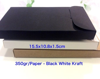 Jewelry packaging etsy 108x155x15cm box black white kraft diy do it yourself wedding bridal solutioingenieria Gallery