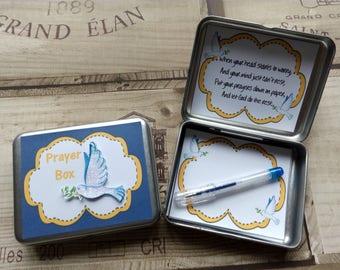 Handmade Prayer Tin - Prayer Box - Great Gift - Favour - Present