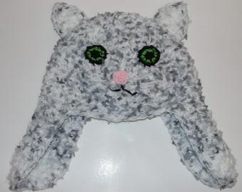 Cat Hat Crochet Pattern Adult Sizes PDF