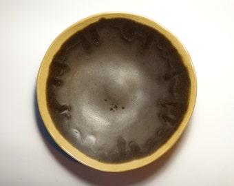black ceramic bowl, big serving deep bowl, handmade ceramic from poland,  decorative platter, one of kind