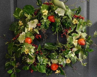 Front Door Wreath , Spring Wreath ,  Floral Wreath ,  Front Door Wreath , Spring Door Wreath , Summer Wreath , Wreath For Spring , Wreaths
