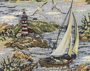 FABRIC SALE - Sail Away - Upholstery Fabric By The Yard - Tapestry Upholstery - Nautical