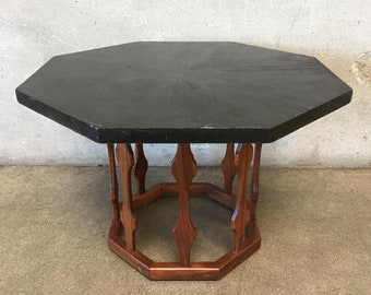 Mid Century Octagon Side Table (RH84SY)