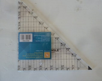 """Easy Angle tool for half-square triangles, all sizes! Uses even size strips, makes half-square triangles from 1"""" to 6"""" finished. EZ Quilting"""