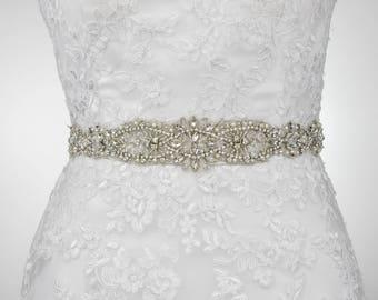 sale - Crystal Dress Belt, Wedding Sash Bridal Belt, Rhinestone Crystal Belt, Wedding Dress Belt, Crystal Rhinestone Sash, Sash Belt B121.1
