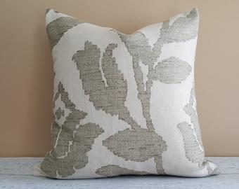 Sage Pillows, Neutral Pillow Cover, Cream Throw Pillow, Floral Pillow Case, Contemporary Pillows, Modern, Zipper, 18x18, 12x18 Lumbar