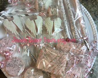 Angel Wings with bling sticks cake pops 120 items combo pack