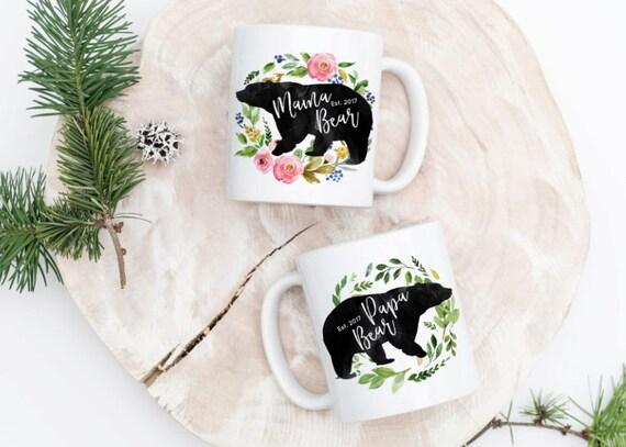 Papa Bear Mama Bear Mugs