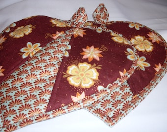Heart Potholders / Copper Pot holders / Pot Holders