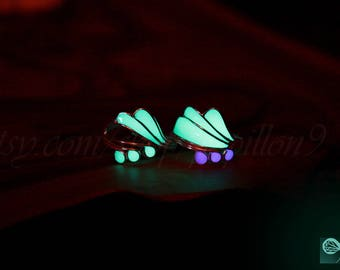 Sea Waves Toe Ring/ GLOW in the DARK / Sterling Silver Toe Ring / Glow Toe Ring /