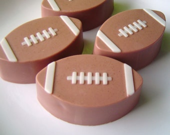 Football Soap - Goat Milk Soap - Leather Scented - Gift for Him - Dad Day Gift - Fathers Day - Novelty - Shaped Soap - Dude - Teen boy