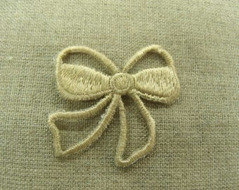 coat sewing - beige Butterfly bow