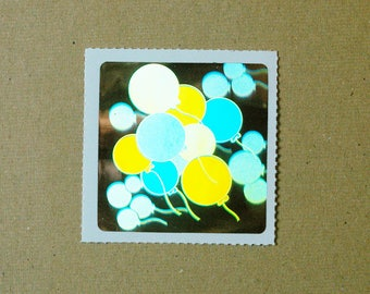 Decal Specialties Holographic Balloons Sticker