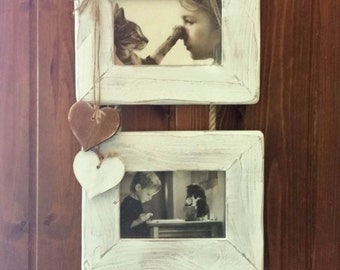 Wall double picture frame