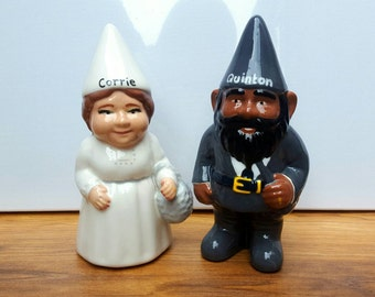 Personalised Ceramic Garden or Indoor Gnome Unique Gift Quirky Gift Personalized Gnome One Gnome