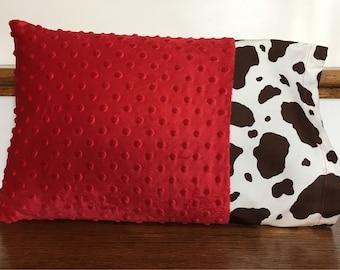 Cow Print Pillowcase/Pony Print Pillowcase/Minky Dot Pillowcase