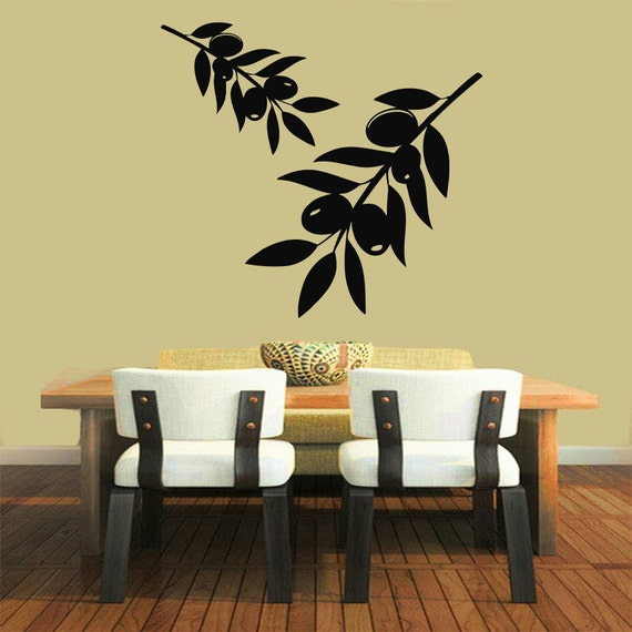 Olive Branch Wall Decals Olive Tree Stickers Kitchen Wall