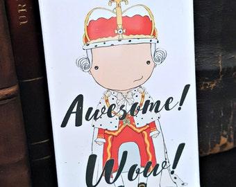 King George III original art magnet Broadway musical