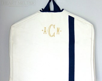 Garment Bags - Monogrammed Garment Bag - Canvas Garment Bag  - Groomsmen Bag - Bridal Gift