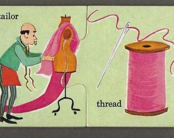 Vintage Mid Century Children's Illustration - Tailor And Thread