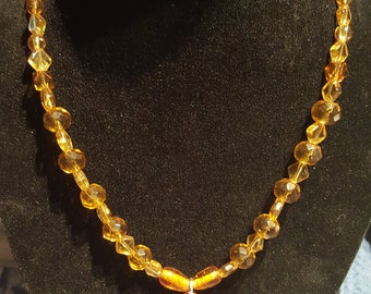 amber necklace with toggle clasp