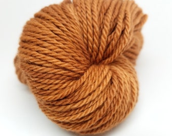 Camel, Gold, Copper, Honey, Brown ColorPurl Dreamy Aran Merino, Hand Dyed Yarn, Aran/Worsted Weight, 181 yrds, 100 gr
