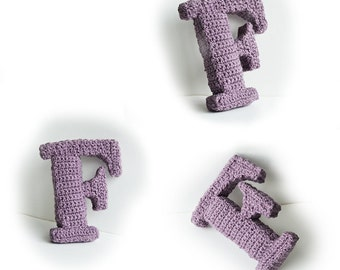 Letter F Crochet Pattern, 3D Alphabet crochet pattern, 3d words pattern, 3d letters pattern, words home deco, decorative letters crochet