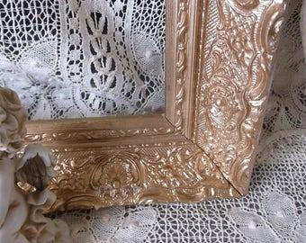 Picture frame, antique gesso,baroque frame gold tone