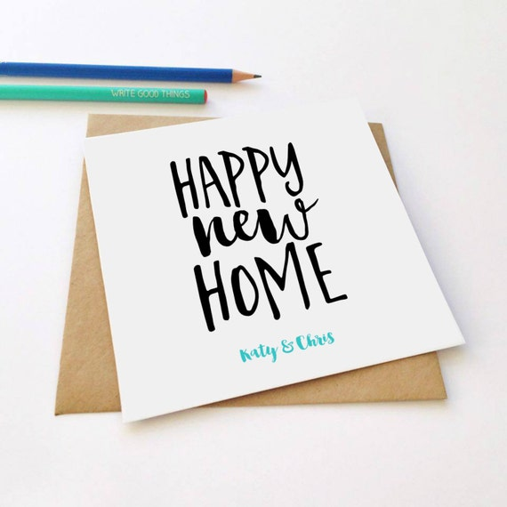 personalised new home card personalized new home card