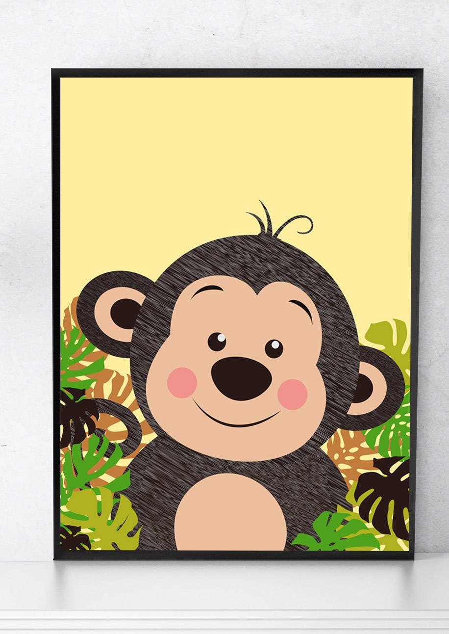 Monkey Nursery Art Monkey Nursery Decor Printable Nursery